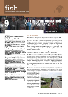 Newsletter Afrique #9 - FIDH - WORLDWIDE MOVEMENT FOR HUMAN RIGHTS