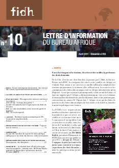 Newsletter Afrique #10 - FIDH - WORLDWIDE MOVEMENT FOR HUMAN RIGHTS